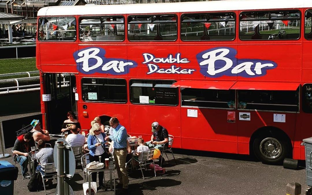 Double decker bus bar – Spotted at the Chester Racecourse