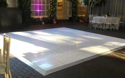 One of our booty shaking dance floors, setup and ready to party!